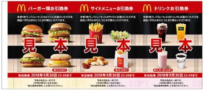 日本マクドナルド 株主優待