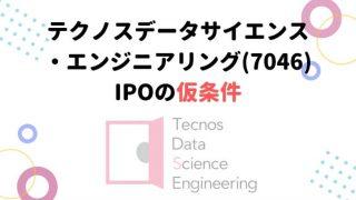 テクノスデータサイエンス IPO 仮条件